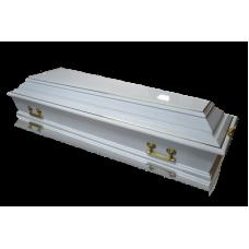 Гроб Б-4 белый колода (6 ручек)