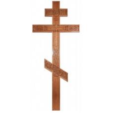 Крест Резной Дубовый (без крыши)
