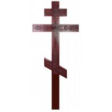 Крест Резной Сосновый (темный)