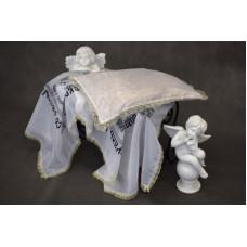 Комплект в гроб эконом (покрывало ритуальное, подушка)