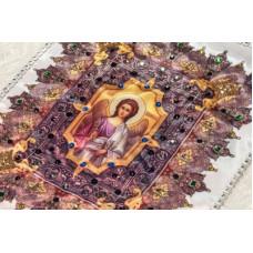 Комплект в гроб «АНГЕЛ-ХРАНИТЕЛЬ» (покрывало, подушка)