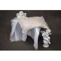 Комплект в гроб эконом (покрывало белое, подушка)