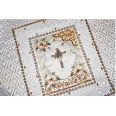 Комплект в гроб «ЭЛЕГАНС» белый (покрывало, подушка)