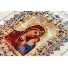 Комплект в гроб «КАЗАНСКАЯ БОЖЬЯ МАТЕРЬ» (покрывало, подушка)