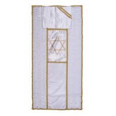 Покрывало в гроб «ЗВЕЗДА ДАВИДА» (вышивка звезда Давида золото/серебро)