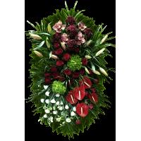 """ВЕНОК """"ГОРТЕНЗИЯ"""" (1,6м) (антуриум,розы, лилии, орхидеи,гортензия, астромерия) 23"""